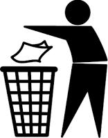trow trash