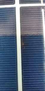 spot pada panel surya